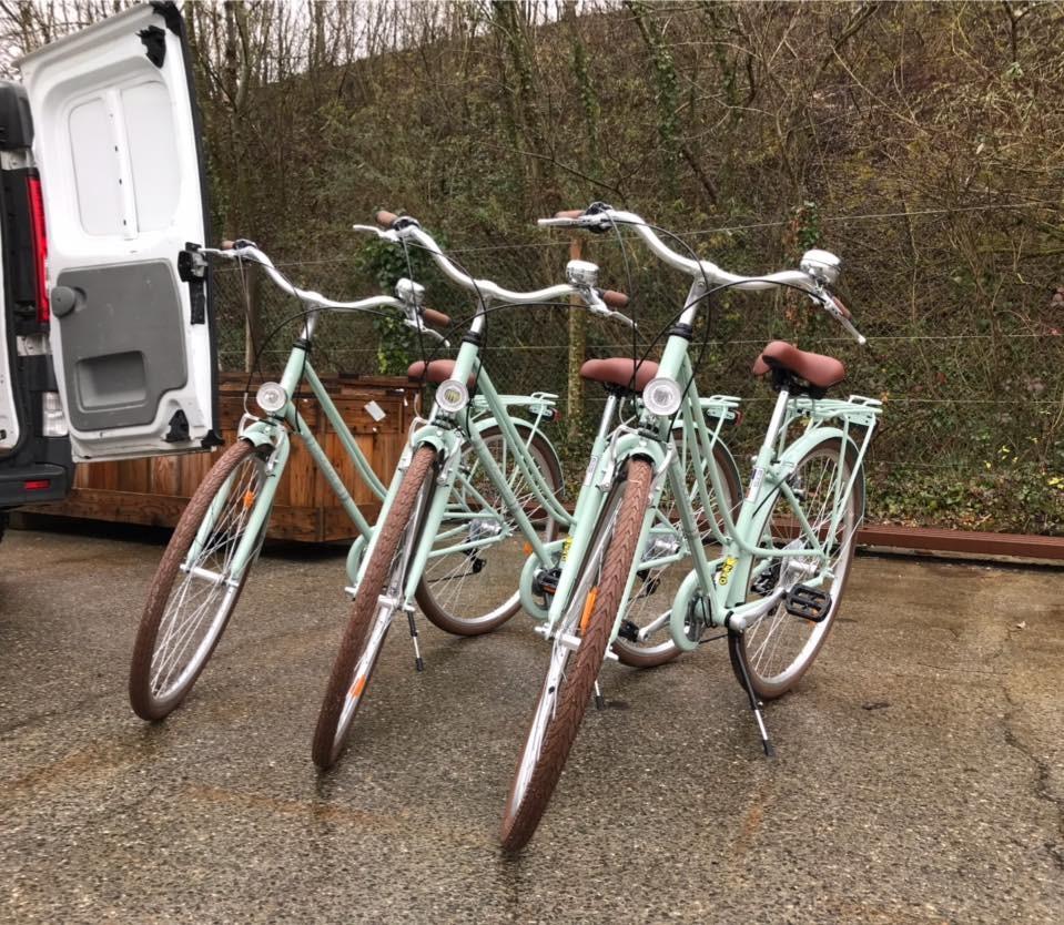 Déplacement sur site en vélo !